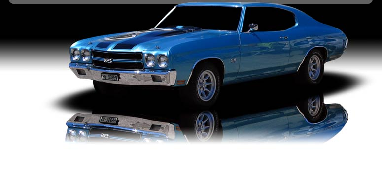 Blue Chevy Chevelle